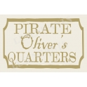 Pirate Custom Name Quarters 12x18 Stencil