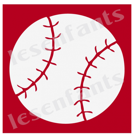 Baseball Graphic 12x12 Stencil
