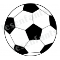 Soccer Ball Graphic 12x12 Stencil