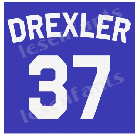 Custom Jersey Number and Name 12x12 Stencil