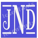 Custom 3 Letter Bar Monogram 12x12 Stencil