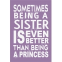 Sometimes Being A Sister 12x18 Stencil