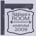 Custom Name Room Inn Sign 12x12 Stencil