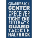 Football Offensive Positions Subway 12x18 Stencil