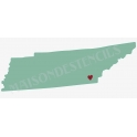 Tennessee State Map 8x18 Stencil
