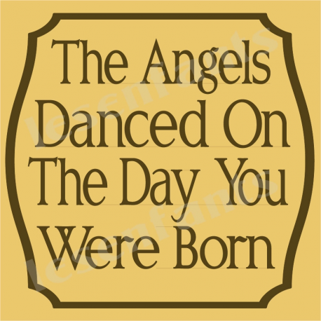 The Angels Danced 12x12 Stencil