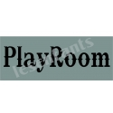 Playroom Western 5.5x11.5 Stencil