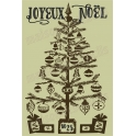 Joyeux Noel with Christmas Tree 12x18 Stencil