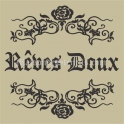 Reves Doux with Rose Scroll 12x12 Stencil
