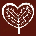 Heart of Life Tree Valentines Day 8x8 stencil