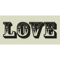 Love Capital Western Ornate Letters 5.5x11.5 Stencil