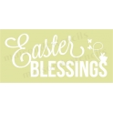 Easter Blessings with bunny 5.5x11.5 Stencil