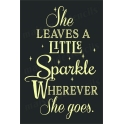 She leaves a Little Sparkle 12x18 stencil