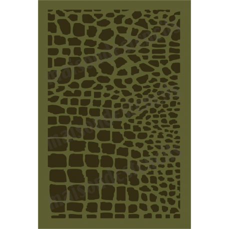 Crocodile Print Background 12x18 stencil