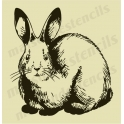 Bunny Rabbit vintage sketch No.2 12x12 stencil