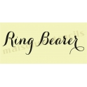 Ring Bearer water color font script 5.5 x 11.5 Stencil