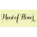 Maid of Honor water color font script 5.5 x 11.5 Stencil