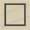 Stamp postal edges outline small 5 x 5 stencil