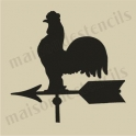 Rooster on Weathervane small 5 x 5 stencil