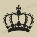 Crown small 5 x 5 stencil