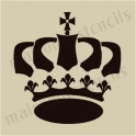 Crown No.1 5 x 5 small stencil