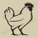 Rooster small 5 x 5 stencil