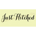 Just Hitched water color font script 5.5 x 11.5 Stencil