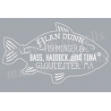 Fishmonger Fish Label 12x18 Stencil