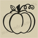 Pumpkin 1 small 5 x 5 stencil