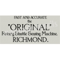 Richmond Sewing Vintage Advertisement 5.5x11.5 Stencil