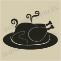 Thanksgiving roasted turkey small 5 x 5 stencil
