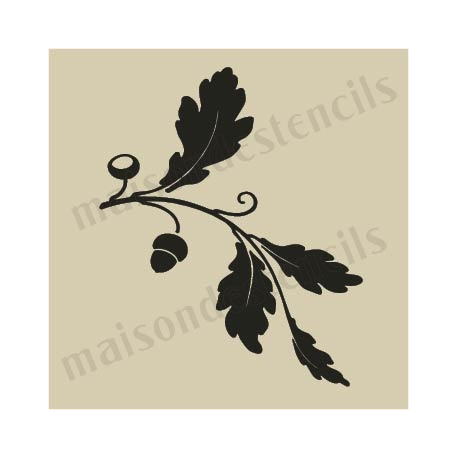 Autumn Chestnut Leaves small 5 x 5 stencil