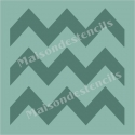 Large Chevron 12x12 Background Stencil