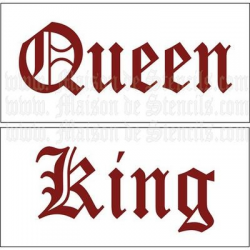 King and Queen 5.5x11.5 Stencils