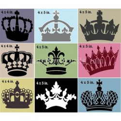 Mini Crown Collection Stencils