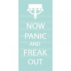 Now Panic and Freak Out 5.5x11.5 Stencil