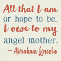 Angel Mother Quote 12x12 Stencil