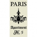 PARIS Apartment No. 5 5.5x11.5 Stencil