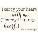 I Carry Your Heart 12x18 Stencil