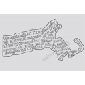 Massachusetts Words and Phrases 12x18 Stencil
