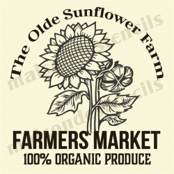 The Olde Sunflower Farm 12x12 stencil