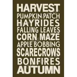 Harvest Subway 12x18 Stencil