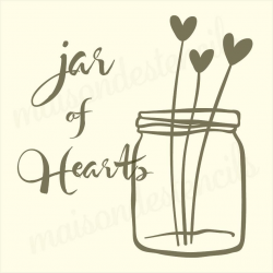 jar of hearts 12x12 stencil