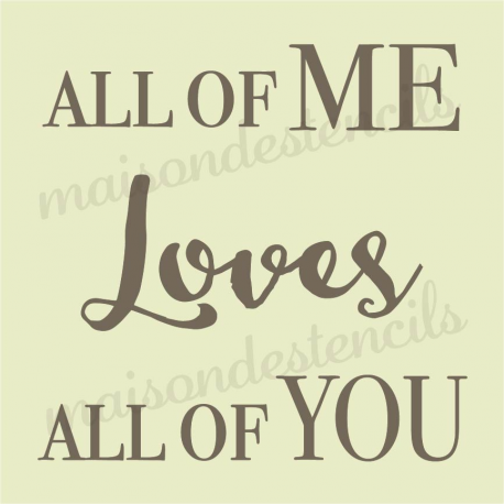 All of ME Love All of YOU 12x12 stencil
