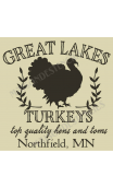 Great Lakes Turkeys 12x12 stencil