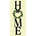 HOME with wreath 8x18 Stencil