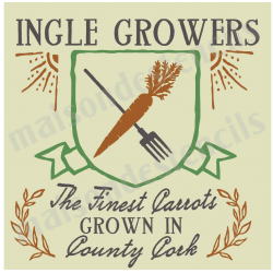 Ingle Growers Carrots 12x12 stencil