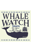 WHALE WATCH tours 12x12 stencil