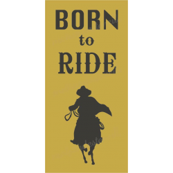 Born to Ride 5.5x11.5 stencil