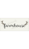 farmhouse with antlers 8x18 stencil